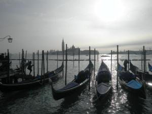 Gondolas floating in the canal