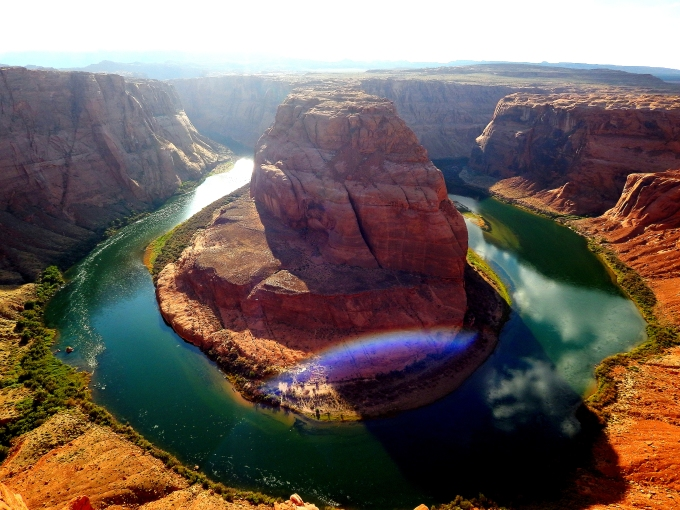 Knees Quivering: A Photo A Top Horseshoe Bend